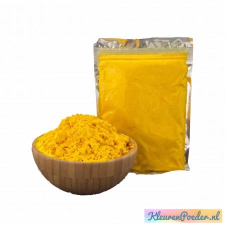 Holi KleurenPoeder zakje 100 gram Geel